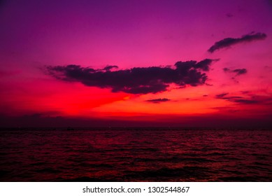 Beautiful tropical beach. Sunrises and sunsets. Ocean. Background