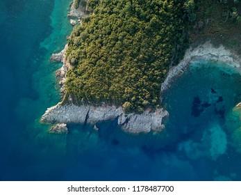 Beautiful tropical bright Albanian coast