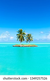 Beautiful tropical island as background image