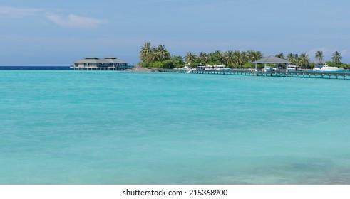 Beautiful tropical island in Indian ocean, Maldives