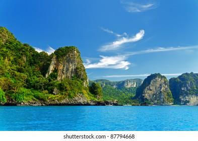 Beautiful tropical landscape. Krabi province, Thailand.