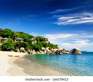 Beautiful tropical landscape. Samui Island, Thailand.