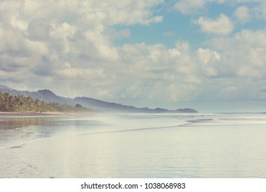 Beautiful tropical Pacific Ocean coast in Costa Rica