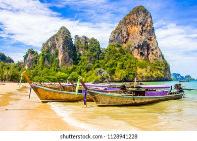 Beautiful tropical paradise Railay beach in Krabi inThailand