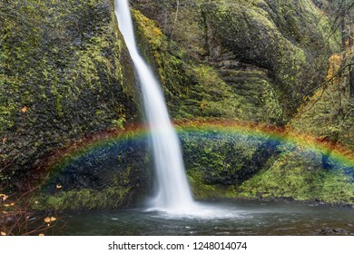 Beautiful tropical rainbow waterfalls and slow exposure soft water.