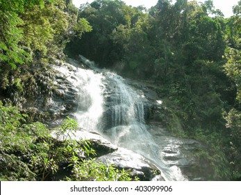 Beautiful tropical rainforest landscape in the middle of South America - waterfall