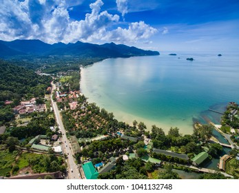 Beautiful tropical viewpoint scenery of White Sands Beach, Koh Chang, Trat, Thailand.