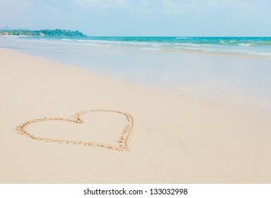 Beautiful tropical white sand beach, Thailand