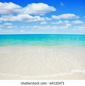 Beautiful tropical white sand beach.