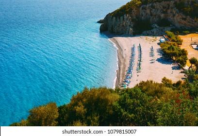 Beautiful Tsabou beach on samos, Greece