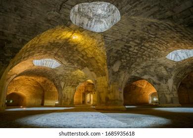 Beautiful tunnel of Munot, Schaffhausen, Switzerland