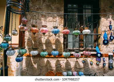 Beautiful turkish glass lamps and souvenirs