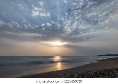Beautiful Turkish sunset