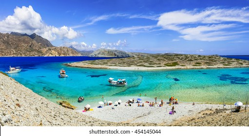 beautiful turquoise beaches of Greece - Astypalea island, Dodecanes