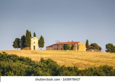 Beautiful tuscan countryside near Pienza, Tuscany, Italy