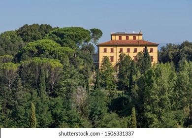 Beautiful  Tuscan manor house surrounded by a park in the famous Chianti area, Tuscany, Italy
