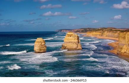 beautiful twelve apostles in Australia
