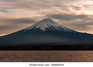beautiful twilight landscape of mt Fuji, Japan