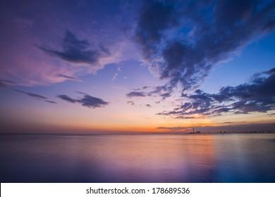 Beautiful twilight over the sea