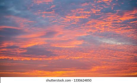 Beautiful twilight sky