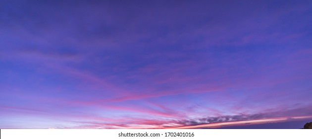 Beautiful twilight sky at dawn before sunrise