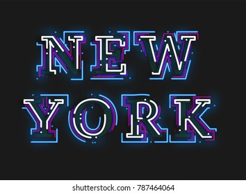 Beautiful typography design for  New York city