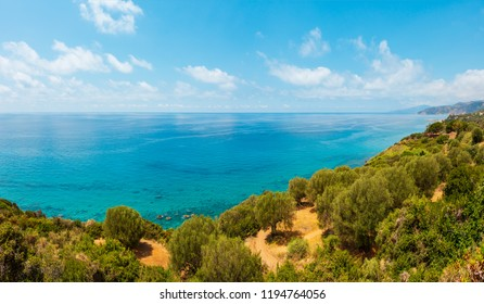 Beautiful Tyrrhenian sea coastline landscape. Cilento and Vallo di Diano National Park, Salerno, Italy