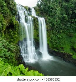 Beautiful Unesco Tad Yueang Waterfall in southern Laos