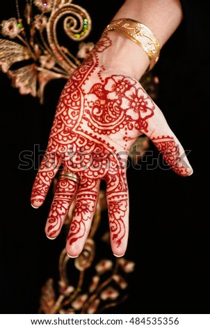 Beautiful Unique Henna Tattoo Indian Floral Stock Photo Edit Now
