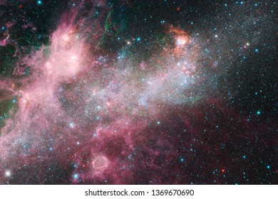 Beautiful of universe. Science fiction wallpaper. Elements of this image furnished by NASA.