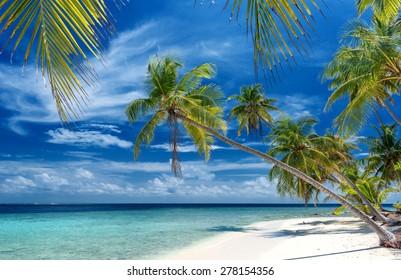 beautiful unspoilt beach