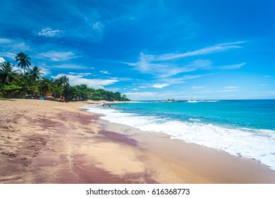 Beautiful untouched beach at Tangalle, southern Sri Lanka