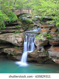 The beautiful upper falls at Old Man's Cave, Ohio.
