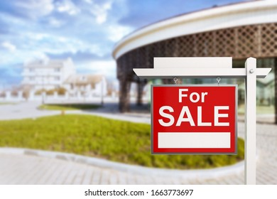 Beautiful urban house with for sale sign