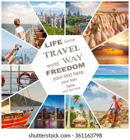 Travel Collage Images Stock Photos Vectors Shutterstock
