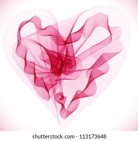 Beautiful Valentine's background with abstract pink heart, illustration