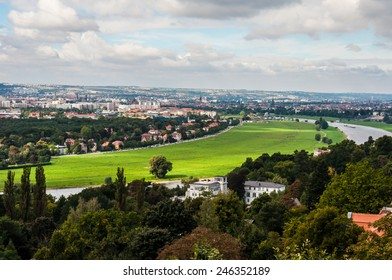 beautiful valley of the Elbe in Dresden