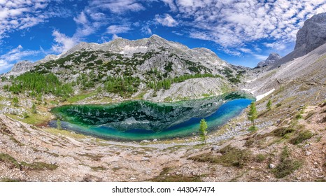 Beautiful valley of the seven lakes in Triglav national park