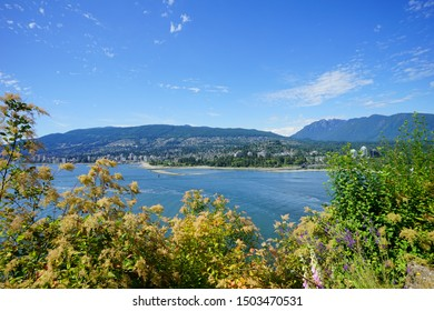 Beautiful Vancouver bay beach in summer in Canada