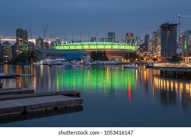 Beautiful Vancouver skyline at night, Vancouver, British Columbia, Canada