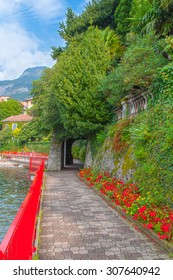 Beautiful Varenna  in Lake Como, Italy. Autumn in Varenna.