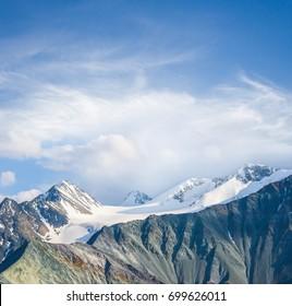 beautiful varicoloured mountain chains, altai russia