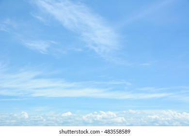 Beautiful Vast blue sky with amazing cloud background. Shape independent, Elements of nature.