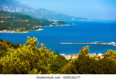 Beautiful Vathy town on Samos island in Greece. Vathy is capital city of Samos