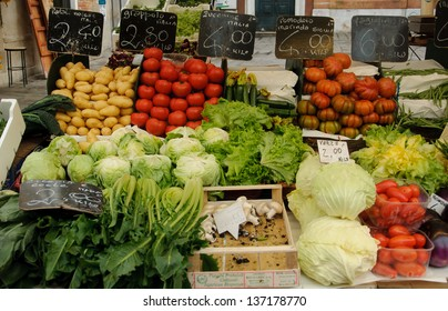 Beautiful vegetable and fruit  shop in Europe