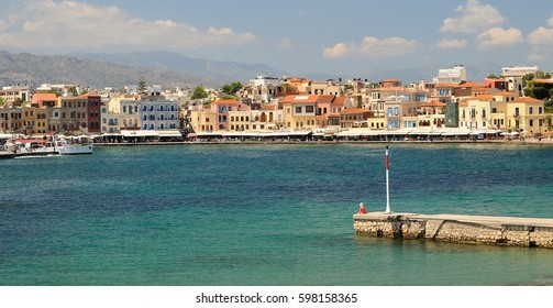Beautiful Venetian port in Chania Greece