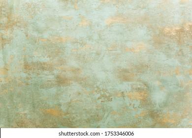 Beautiful verdigris oxidized copper background.