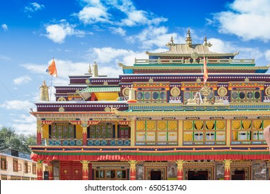 Beautiful and very colourful Monastery of Rabangla - callen Ralong Monasterry, at Sikkim , India