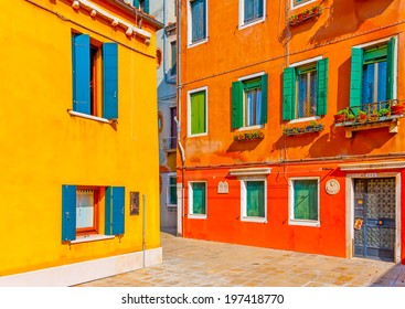 Beautiful very old buildings at Venice Italy