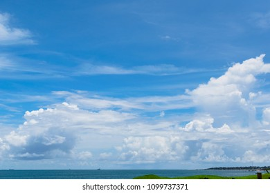 a beautiful and vibrant sky over vizag beach.